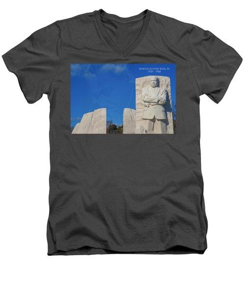 Martin Luther King Jr Memorial Men's V-Neck T-Shirt