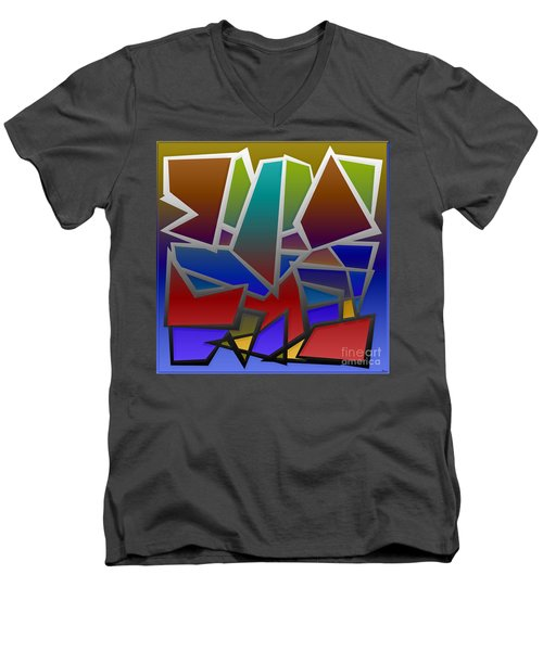 1624 Abstract Thought Men's V-Neck T-Shirt