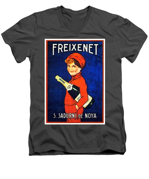 1920 - Freixenet Wines - Advertisement Poster - Color Men's V-Neck T-Shirt