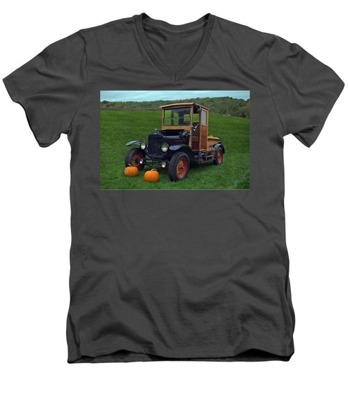 Men's V-Neck T-Shirt featuring the photograph 1922 Ford Model T Truck by Tim McCullough