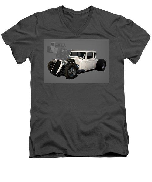 1930 Ford Hot Rod Men's V-Neck T-Shirt