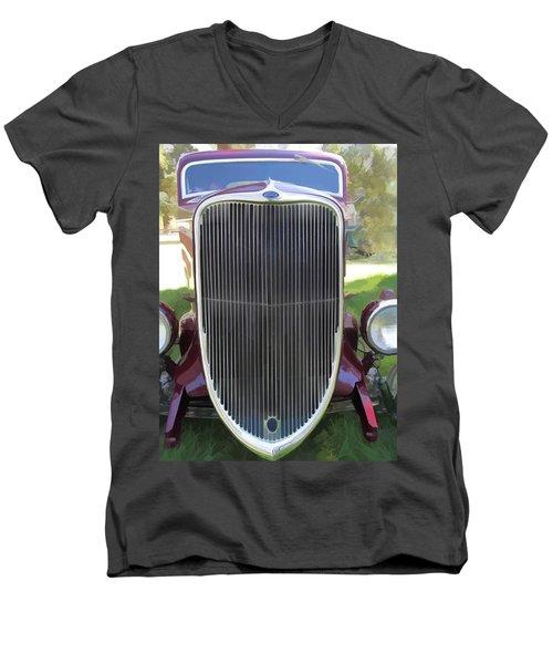 1933 Ford Grille Men's V-Neck T-Shirt