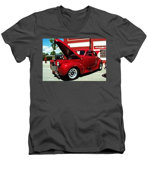 1940 Chevy Men's V-Neck T-Shirt by Kevin Fortier