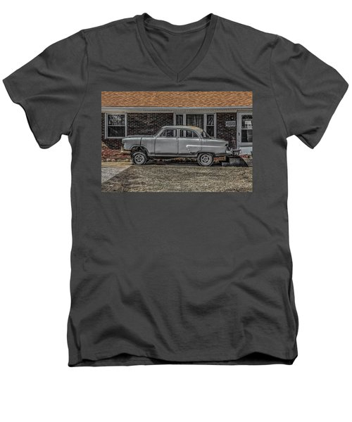 1952 Ford Men's V-Neck T-Shirt by Ray Congrove