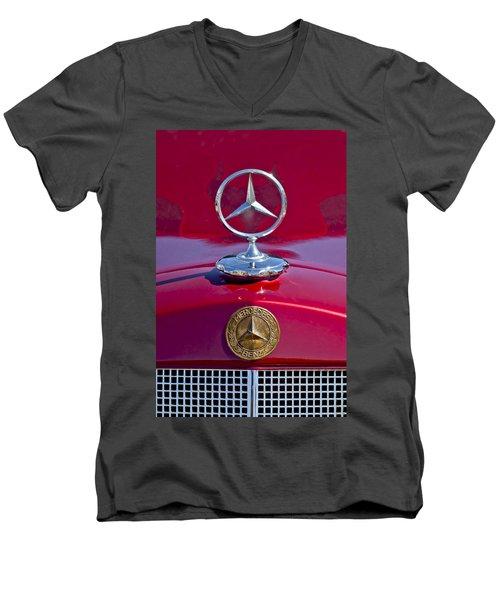 1953 Mercedes Benz Hood Ornament Men's V-Neck T-Shirt