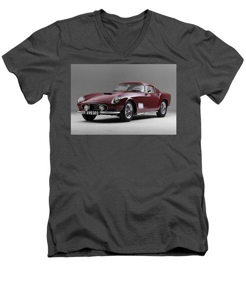 1956 Ferrari Gt 250 Tour De France Men's V-Neck T-Shirt by Gianfranco Weiss