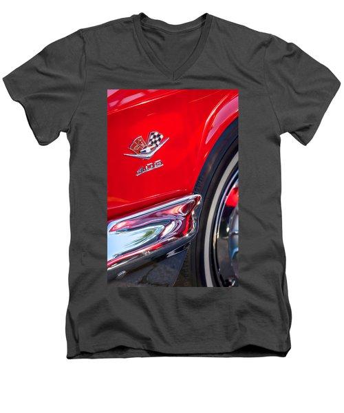 1962 Chevrolet Impala Ss 409 Emblem Men's V-Neck T-Shirt