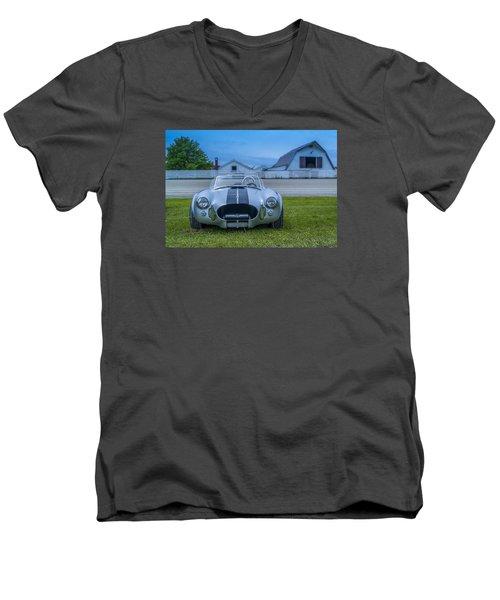 1965 Ford Shelby Cobra American Roadster Men's V-Neck T-Shirt by Ken Morris