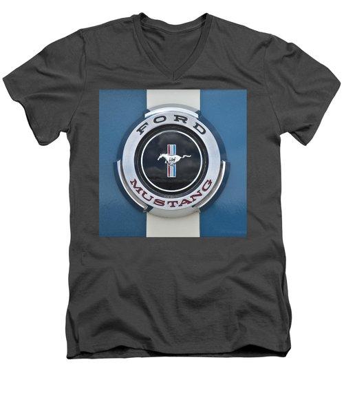 1966 Shelby Gt 350 Emblem Gas Cap Men's V-Neck T-Shirt