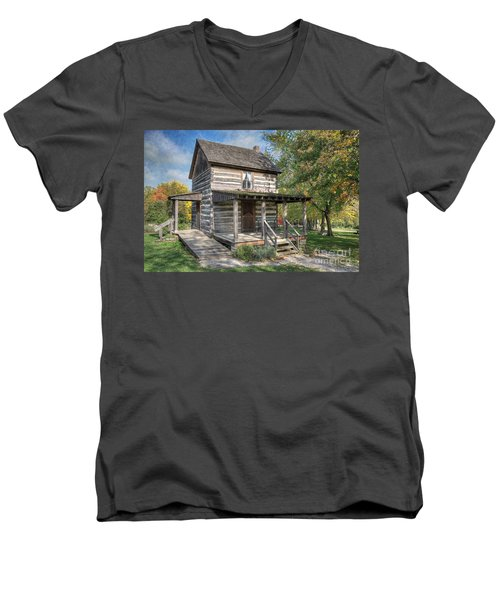 19th Century Cabin Men's V-Neck T-Shirt