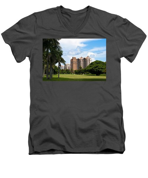 1st Hole At Granada Golf Course Men's V-Neck T-Shirt