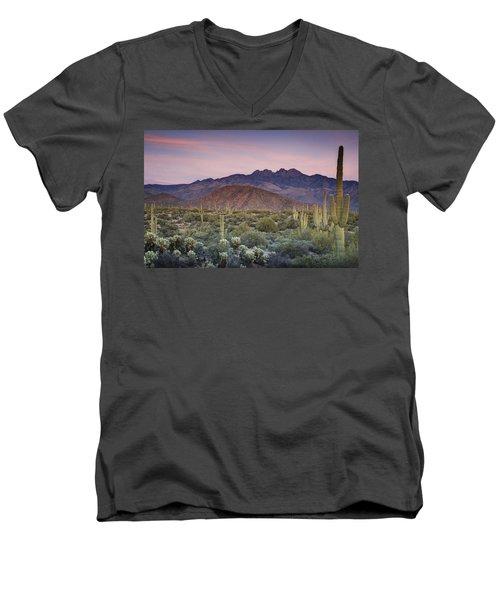 A Desert Sunset  Men's V-Neck T-Shirt