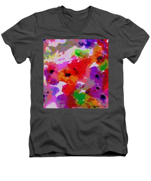 Men's V-Neck T-Shirt featuring the painting A Little Watercolor by Jamie Frier