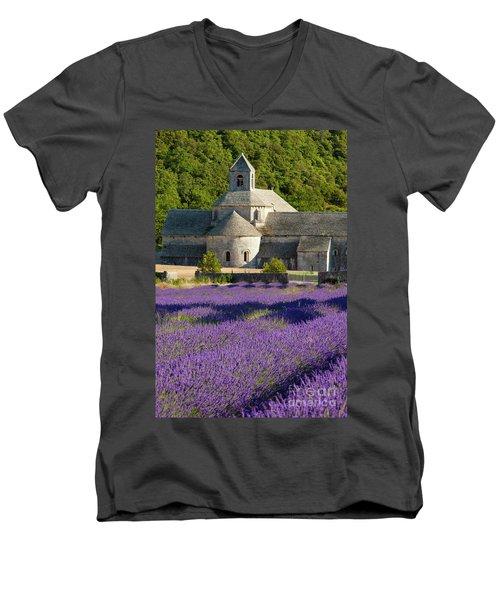 Abbaye De Senanque Men's V-Neck T-Shirt by Brian Jannsen