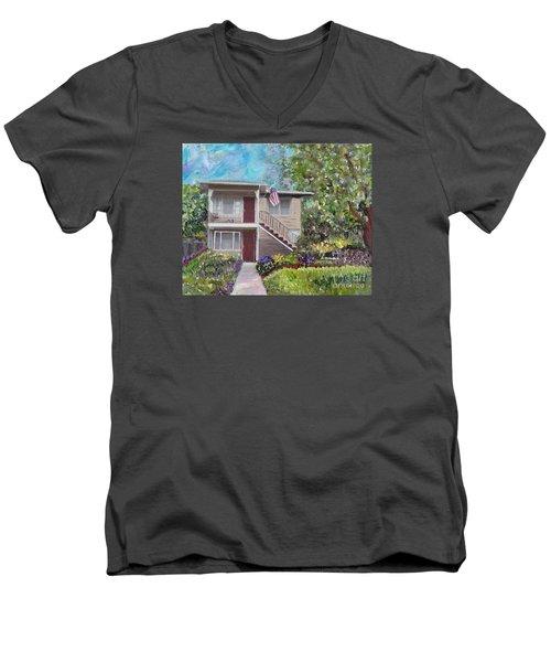 Alameda 1908 Duplex  Men's V-Neck T-Shirt by Linda Weinstock