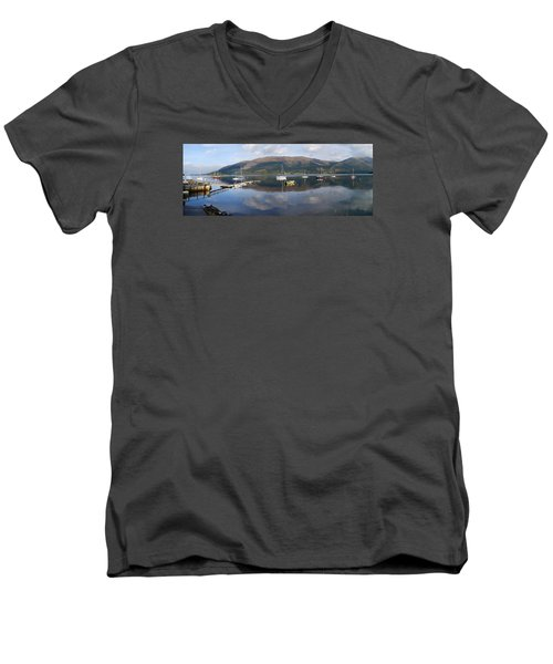 Men's V-Neck T-Shirt featuring the photograph Along Loch Leven 3 by Wendy Wilton