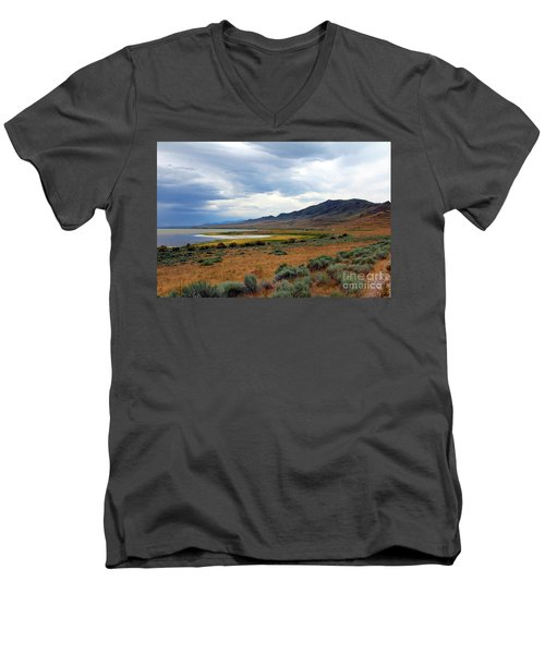 Antelope Island Men's V-Neck T-Shirt