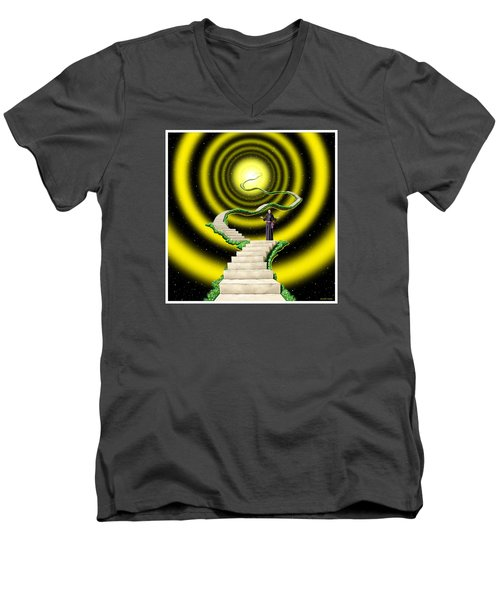 Men's V-Neck T-Shirt featuring the digital art Ascension by Scott Ross