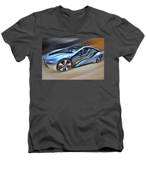 B M W  Edrive I8  Concept  2014 Men's V-Neck T-Shirt