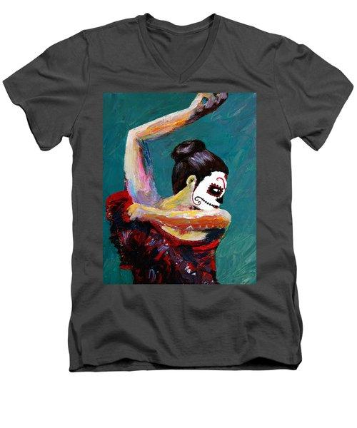 Bailan De Los Muertos Men's V-Neck T-Shirt