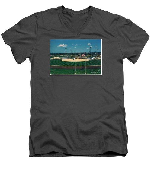 Baseball Diamond Men's V-Neck T-Shirt