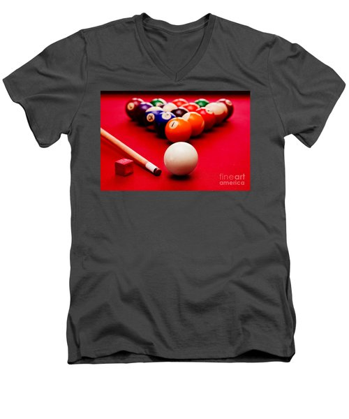 Billards Pool Game Men's V-Neck T-Shirt