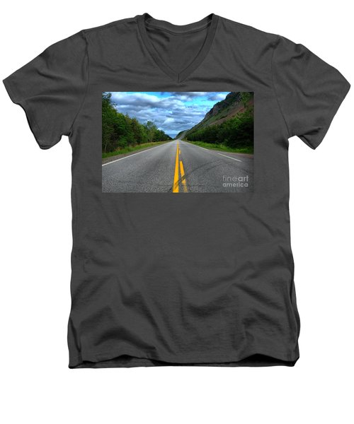 Men's V-Neck T-Shirt featuring the photograph Cabot Trail by Joe  Ng