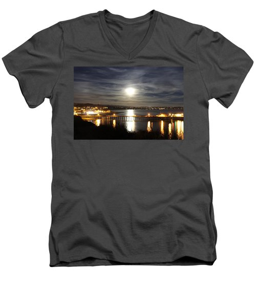 Capitola Moonscape Men's V-Neck T-Shirt
