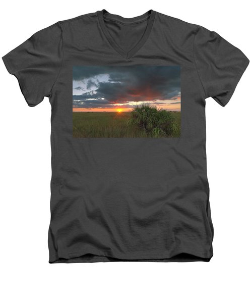 Chekili Sunset Men's V-Neck T-Shirt