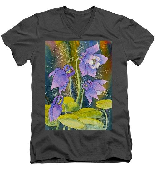 Columbine Men's V-Neck T-Shirt by Teresa Ascone