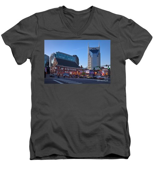 Downtown Nashville Men's V-Neck T-Shirt
