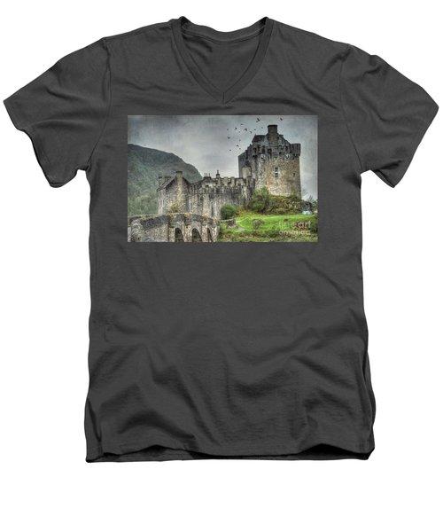 Eilean Donan Castle Men's V-Neck T-Shirt by Juli Scalzi