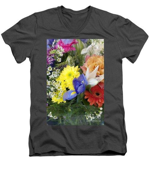 Floral Bouquet 4 Men's V-Neck T-Shirt