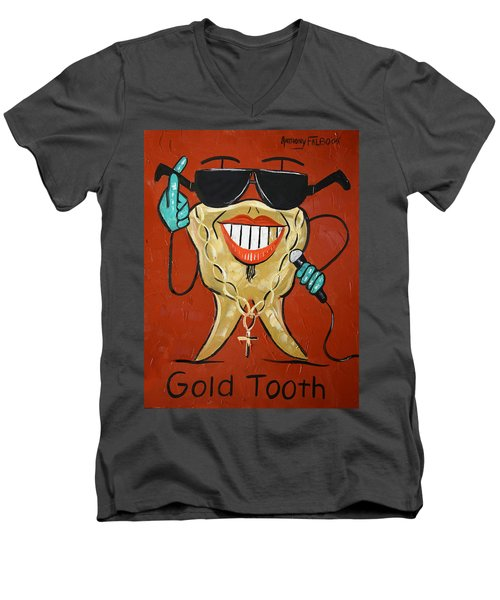 Gold Tooth Men's V-Neck T-Shirt