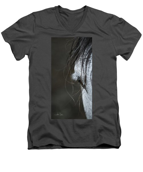 Men's V-Neck T-Shirt featuring the photograph Gracie by Joan Davis