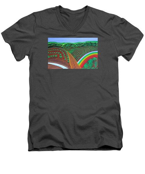 Hidden Forest Men's V-Neck T-Shirt by Lorna Maza