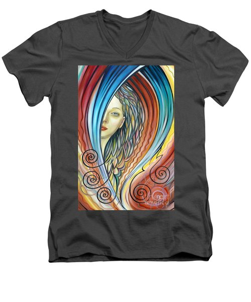 Illusive Water Nymph 240908 Men's V-Neck T-Shirt