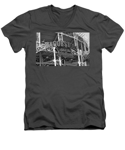 Jacobs Field - Cleveland Indians Men's V-Neck T-Shirt by Frank Romeo