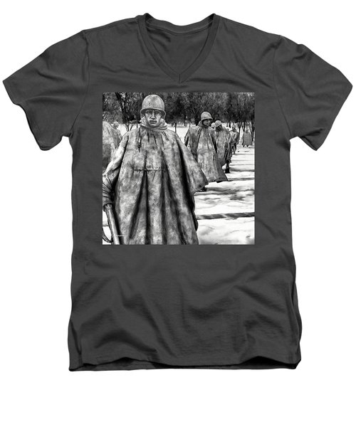 Korean War Memorial Washington Dc Men's V-Neck T-Shirt