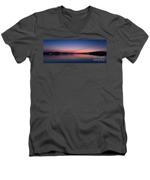 Lake Lanier After Sunset Men's V-Neck T-Shirt
