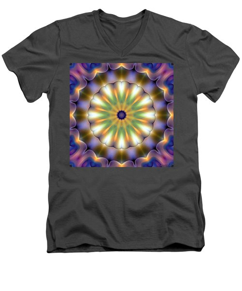 Mandala 105 Men's V-Neck T-Shirt by Terry Reynoldson