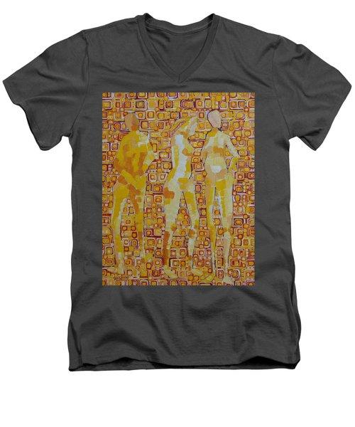 Mary Gestured Thrice Men's V-Neck T-Shirt