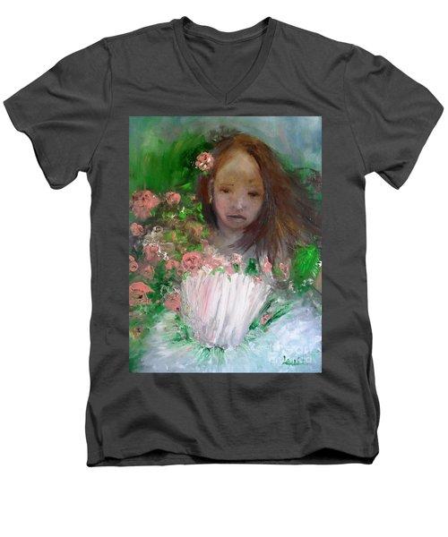 Mary Rosa Men's V-Neck T-Shirt