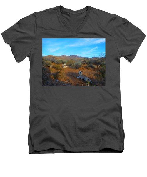 Mocha And Paco Men's V-Neck T-Shirt