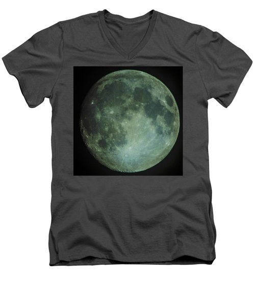 Moon Men's V-Neck T-Shirt