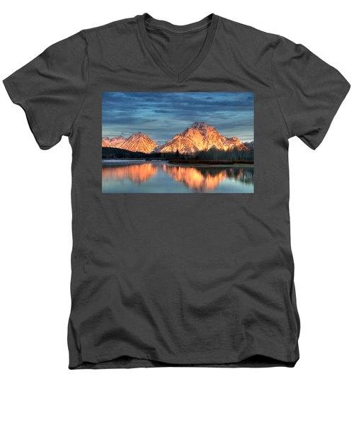 Mount Moran Men's V-Neck T-Shirt