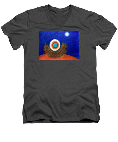 Nesting Moon Men's V-Neck T-Shirt