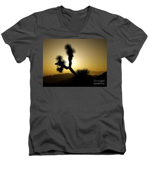 New Photographic Art Print For Sale Joshua Tree At Sunset Men's V-Neck T-Shirt