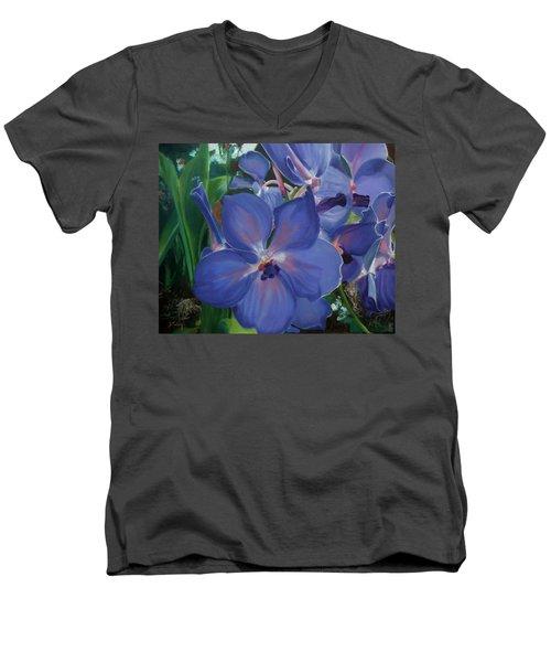 Orchids Men's V-Neck T-Shirt by Donna Tuten