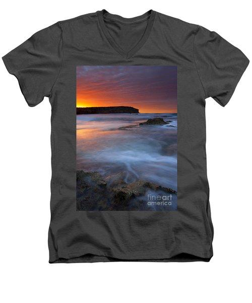 Pennington Dawn Men's V-Neck T-Shirt by Mike  Dawson